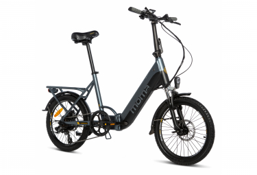 Moma Bikes Vélo Electrique VAE de Ville Pliant, E20Pro, Aluminium, SHIMANO 7V, Bat. Ion Lithium 48V 13Ah