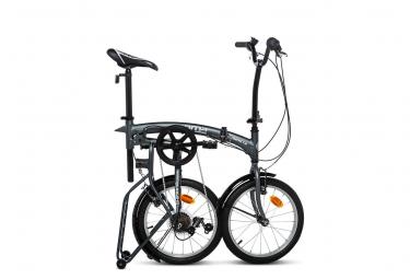 Moma Bikes, Vélo de Ville Pliant Compact 18 , SHIMANO 6V GRIS