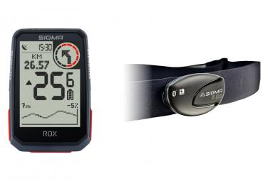 Ordenador GPS Sigma ROX 4.0 HR Bundle Negro