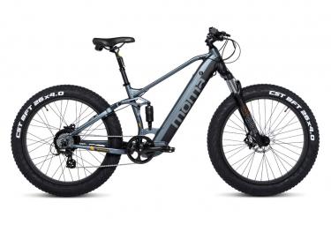 Moma Bikes E-MTB, FATBIKE 26'PRO, Equipped Full SHIMANO, Frenos de Disco Hydraulicos s, Bat. Ion Lithium integrada y extraible de 48V 13Ah / 1,60m - 1,80m