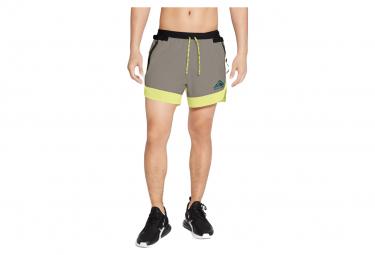 Short Nike Dri-Fit Flex Stride Trail Khaki Jaune