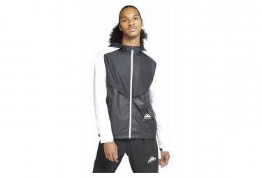 Chaqueta Cortavientos Nike Windrunner Trail Negro   Blanco S