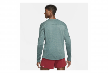 Maillot Manches Longues 1/2 zip Nike Element Trail Vert