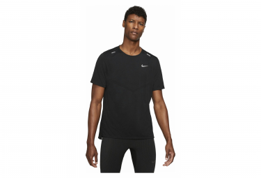 Camiseta Nike Dri Fit Rise 365 Manga Corta Negro M