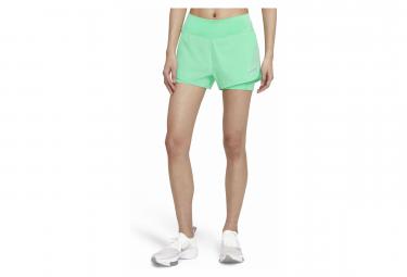 Pantalon Corto Nike 2 En 1 Para Mujer Eclipse Verde M