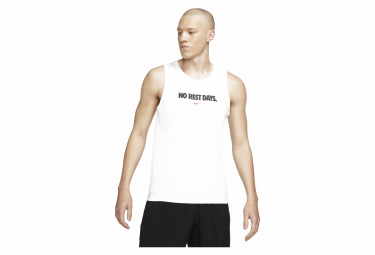Nike Dri Fit No Rest Days Camiseta Blanca Sin Mangas L