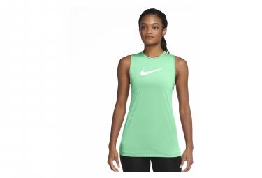 Camiseta Sin Mangas Verde Mujer Nike Pro Training Dri Fit S