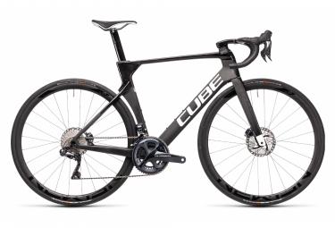 Vélo de Route Cube Litening C:68X Pro Shimano Ultegra Di2 11V Gris / Blanc / Noir