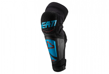 Leatt 3DF Hybrid Ext Fuel Knee Guards with Shin Guards / Black