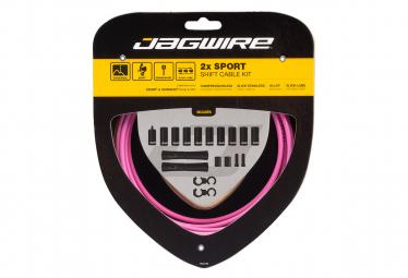 Jagwire 2x Sport Shift Kit Rosa