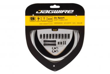 Jagwire 2x Sport Shift Kit Plata de ley