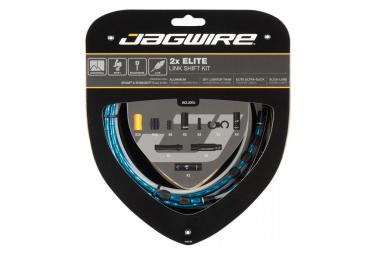 Kit Câbles et Gaines pour Dérailleurs Jagwire 2x Elite Link Shift Kit Bleu