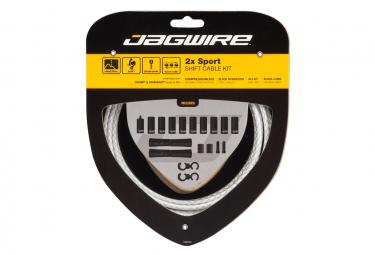 Jagwire 2x Sport Shift Kit Braided White