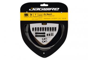 Jagwire 2x Sport Shift Kit Ice Grey