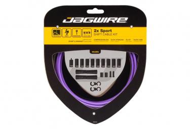 Jagwire 2x Sport Shift Kit Morado