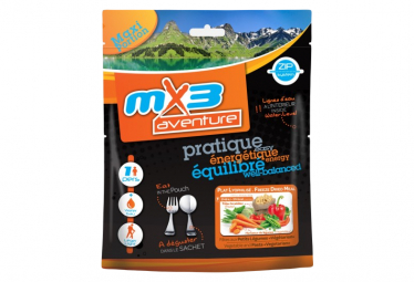 Pasta Liofilizada Mx3 Con Verduras Vegetarianas 125 G