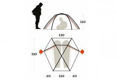Tente Ferrino Force 2 Gris