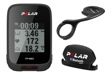 Ordenador GPS Polar M460 Negro + Montaje remoto + Sensor de velocidad Bluetooth
