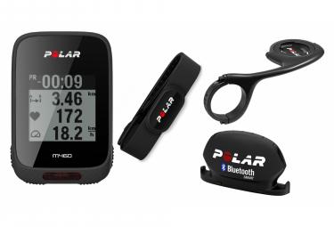POLAR Compteur GPS M460 Noir + Support Vélo POLAR DEPORTE + POLAR Capteur de vitesse Bluetooth