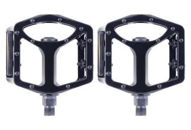Pair of SB3 Stealth 2 Black Flat Pedals