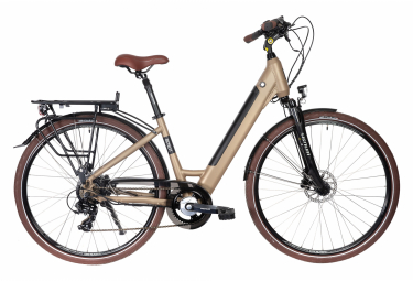 Vélo de Ville Électrique Bicyklet Carmen Shimano Tourney/Altus 7V 504 Wh 700 mm Marron Tan 2021