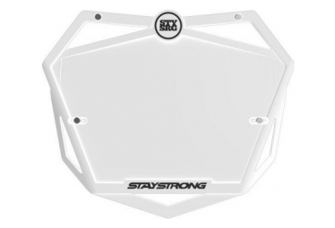 Portanumero BMX Stay Strong Pro bianco