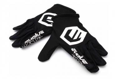 Par De Guantes Evolve Send It Para Ninos Negro   Blanco L