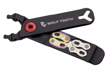 Wolf Tooth Pack Pliers - Master Link Combo Pliers Multi-Tool (4 Functions) Black Blue