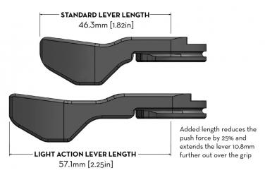 Commande de Tige de Selle Wolf Tooth ReMote Shimano IS-II (Sans Câble/Sans Gaine) Noir