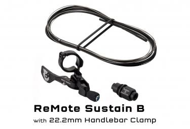 Commande de Tige de Selle Wolf Tooth ReMote Rockshox Reverb B-Post Collier 22.2 mm Noir