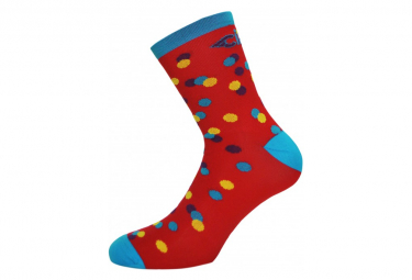 Calcetines Cinelli Caleido Dots Rojo 39 42