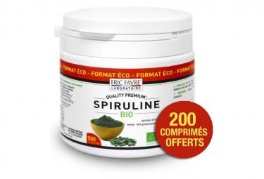 Compléments Eric Favre Spiruline Vegan Bio 500 comprimés
