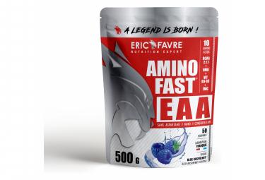Boisson énergétique Eric Favre Amino Fast EAA 500g Blue Raspberry