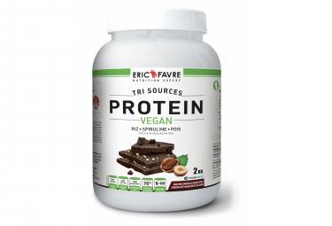 Boisson protéinée Eric Favre Proteine Vegan 2kg Chocolat Noisette