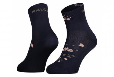 Par De Calcetines Para Mujer Maloja Weissmoosm  Azul 39 42