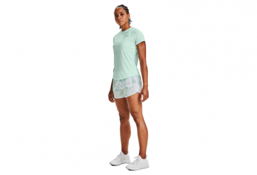 Shorts Under Armour Fly By 2 0 Mujer Azul   Blanco Xs