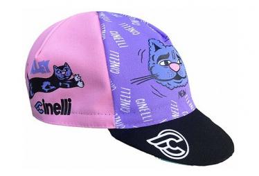 Casquette Cinelli Alley Cat Violet / Bleu