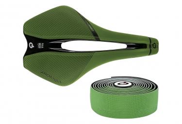 Sella Prologo Dimension Tirox + nastro manubrio colore naturale verde
