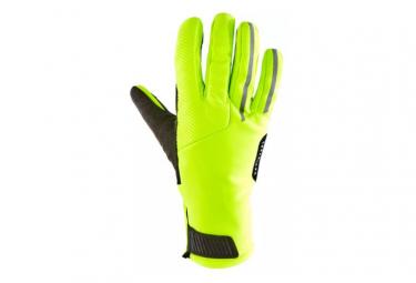 Triban Velo 900 Winter Gloves Neon Yellow