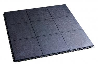 Anti-Fatigue Floor Tile 915x915x16 mm Black