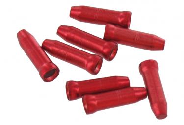 Rote Aluminium-VAR-Endkappen (x4)