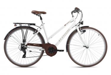 VTC Femme 28'' Venice guidon plat blanc TC 53 cm KS Cycling
