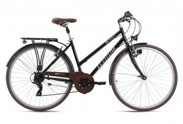 VTC Femme 28'' Venice guidon plat noir TC 53 cm KS Cycling