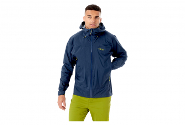 Chaqueta Impermeable Rab Downpour Plus 2 0 Azul M