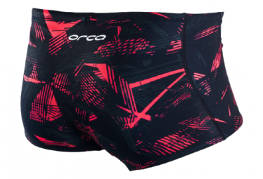 Orca Square Leg Swimsuit Black / Red