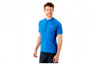 Rab Sonic Zip Tee Camiseta Azul Para Hombre M