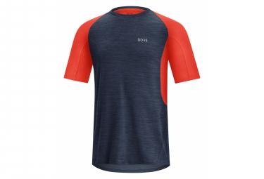 Maillot Manches Courtes Gore Wear R5 Bleu Rouge