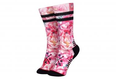 Loose Riders Technische Pfingstrose Pink Socken
