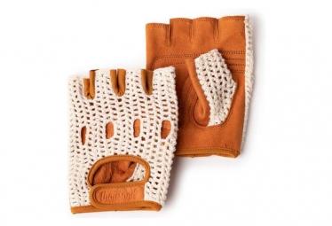 Tausend kleine 5 kurze Handschuhe Braun / Beige