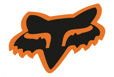 Fox Racing Shox Fox Head Decals 18cm Black / Orange